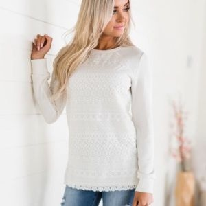 Ampersand Ave Lace Front Pullover